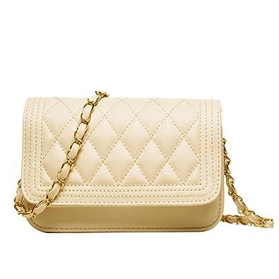 Donalworld Women Fashion Handbag Quilting Envelope Cross Body Shoulder Bag  Beige a8beb66def607