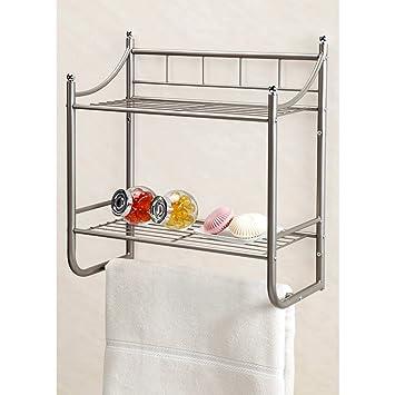 Amazon.com: Chrome Tension Shower Caddy, Small Shower Shelf Tension ...
