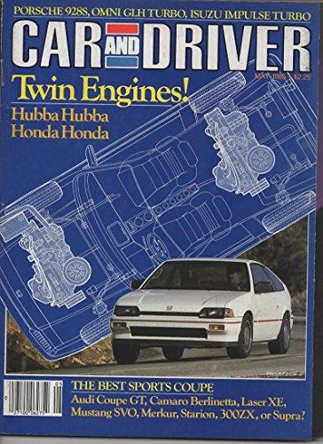 (Car & Driver Magazine, May 1985 (Honda Twin Engine Project, Isuzu Impulse Turbo, Omni GLH Turbo, Porsche 928S, Sports Car Comparo))