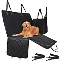 Docatgo [Upgraded Version] Dog Seat Cover, Pet Car Seat Cover, Heavy Duty, Waterproof, Machine Washable, Dog Car Hammock with Seatbelts for Car Trucks and SUVs (Large(54X58 in))