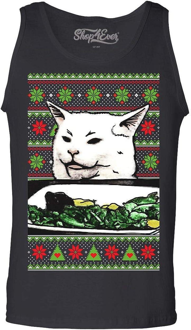 shop4ever Day of The Dead Cat Mens Tank Top Dia de Los Muertos Tank Tops