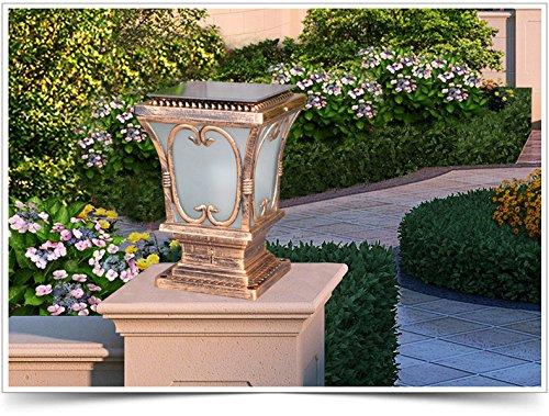 YZL/ Solar pillar lamp post lights/wall lights/home/garden door super bright outdoor wall pillar lamp