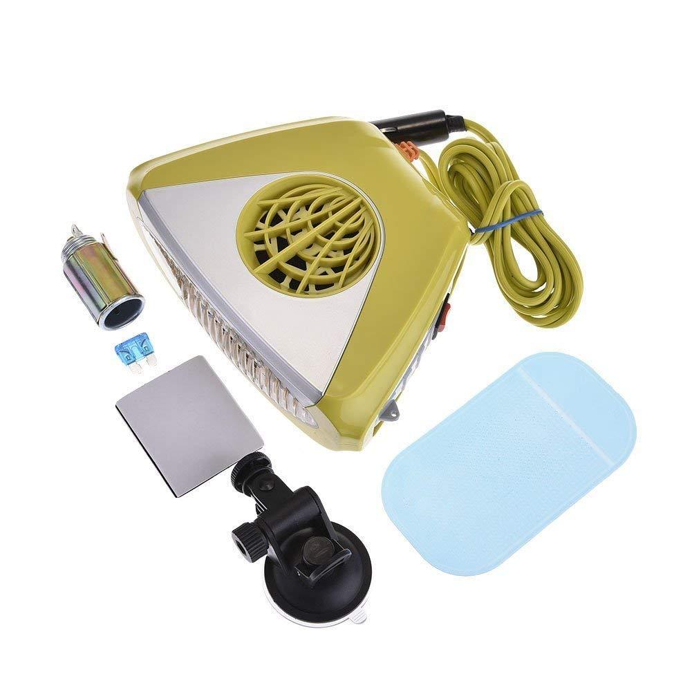 Aozzy Portable Heater Defroster Fan, 150W Car Heater Defroster Snow Melter Fan 12V Heater Defroster Fan, Windscreen Window Demister Melter Defogger.