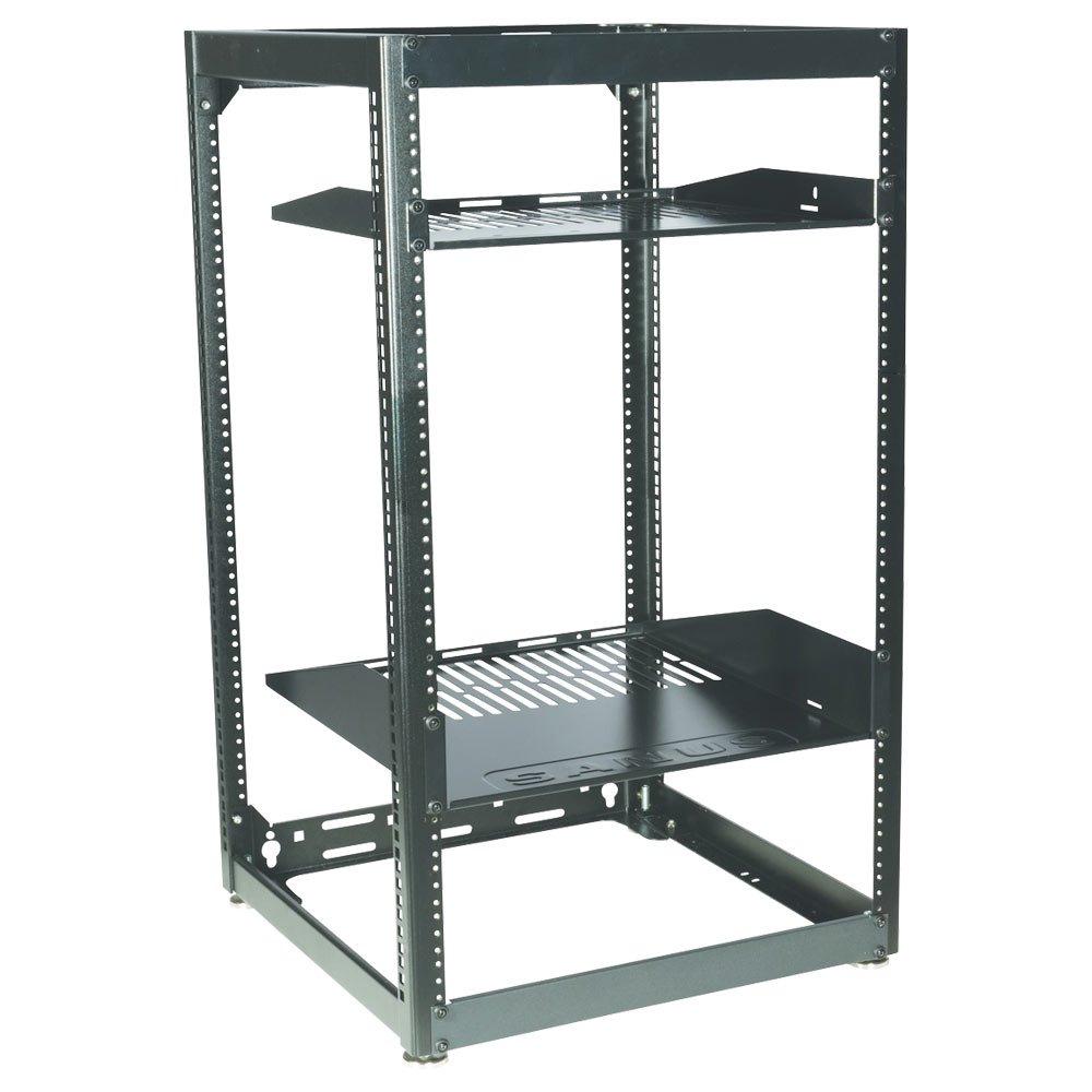 Sanus CFR1620-B1 Component Series 20U Stackable Skeleton Rack (35'') Black by Sanus