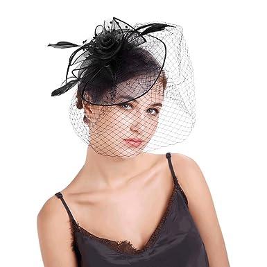 Charming Big Flower Vintage Headband Netting Mesh Hair Band Cocktail Hat  Tea Party Headwear Girls Women fb97df56cbe