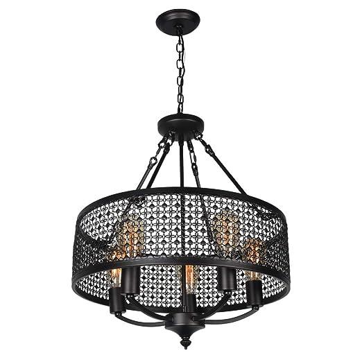 Amazon.com: Beuhouz - Lámpara de araña redonda industrial ...