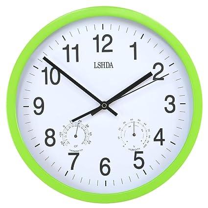 Amazon.com: HZB Living Room Silent Fashion Clock Bedroom Concise Creative Modern Metal Frame Quartz Clock, Green Frame: Home & Kitchen