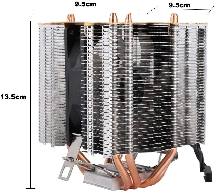 Cooling Fan,9cm Copper Radiator,Low Power Consumption Add Cover Ice Tower Type CPU Cooler High Efficiency ASHATA CPU Radiator