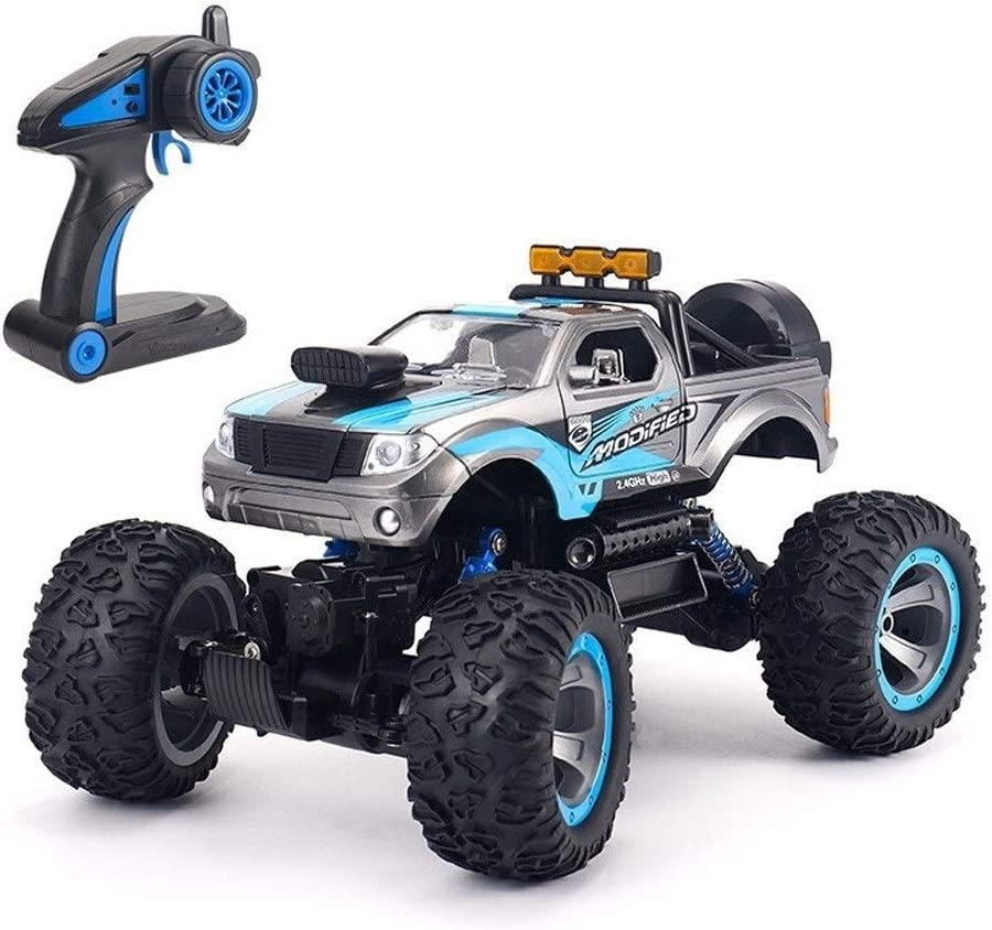 PETRLOY Todo Terreno coche de RC, inalámbrico controlado Roca Vía Vehículo sobre orugas camión 4WD alta velocidad de 2,4 GHz 01:12 Escala 36 kmh radio control remoto eléctrico carrera rápida Buggy Hob