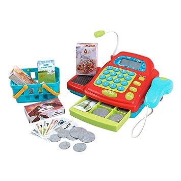 PlayGo Caja registradora eléctrica con Accesorios, (Color Baby 44584): Amazon.es: Juguetes y juegos