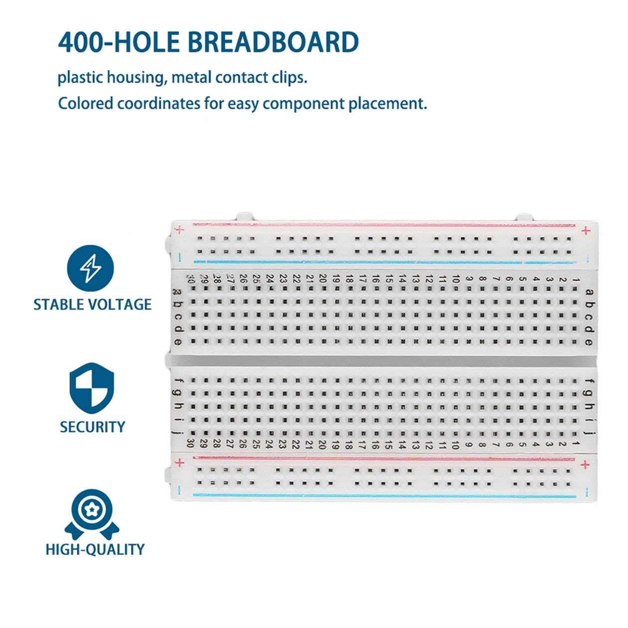 Professional Mini Solderless Breadboard 400 Contatti Tie-points Universal Disponibile Spedizione gratuita