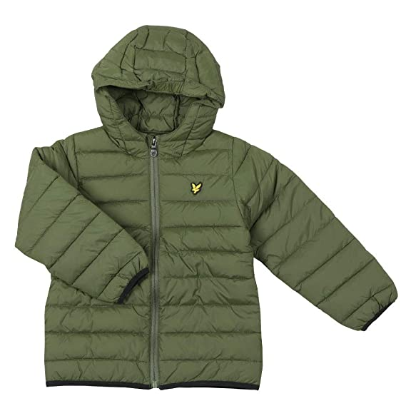 01133962b Lyle and Scott Junior - Puffer Jacket, Woodland Green: Amazon.co.uk ...