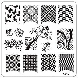 DIY Nail Art Image Stamp Stamping Plates Manicure Template XJ Series By Bestpriceam