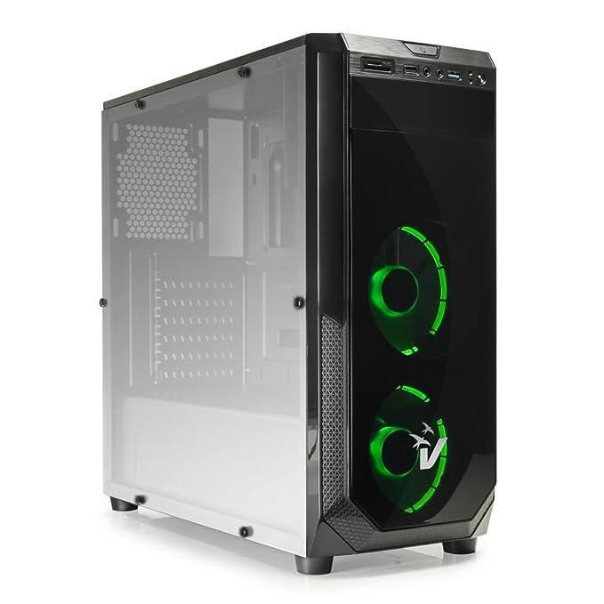 9 opinioni per VulTech GS-0385GR Gaming Blackdoom Case ATX, USB 3.0, SD Card, Ventole Verdi