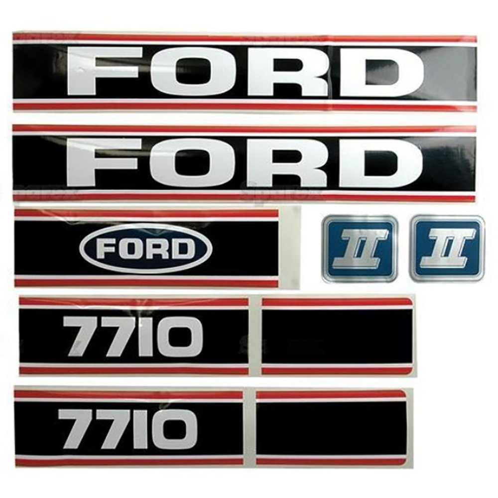 Ford/New Holland 7710 Force II Black & Red Hood Decal Set (86>) by RAPartsinc