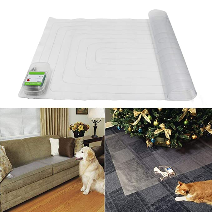 Electronic Pet Training Shock Mat for Dogs Cats, Indoor Use Furniture Protection - 60 x 12 Inch