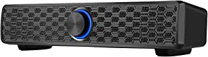 Computer Speakers,ARCHEER 10W USB Powered Desktop Speakers PC Wired Sound Bar Stereo Sound Speaker for Desktop, Laptop, Mac, iMac, Tablets -Plug and Play(Black)