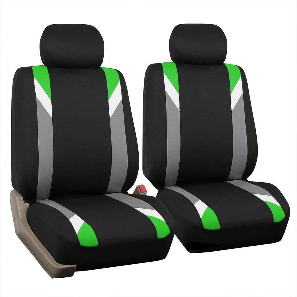FH Group FB033GREEN102 Bucket Seat Cover Set of 2 Modernistic Airbag Compatible Green