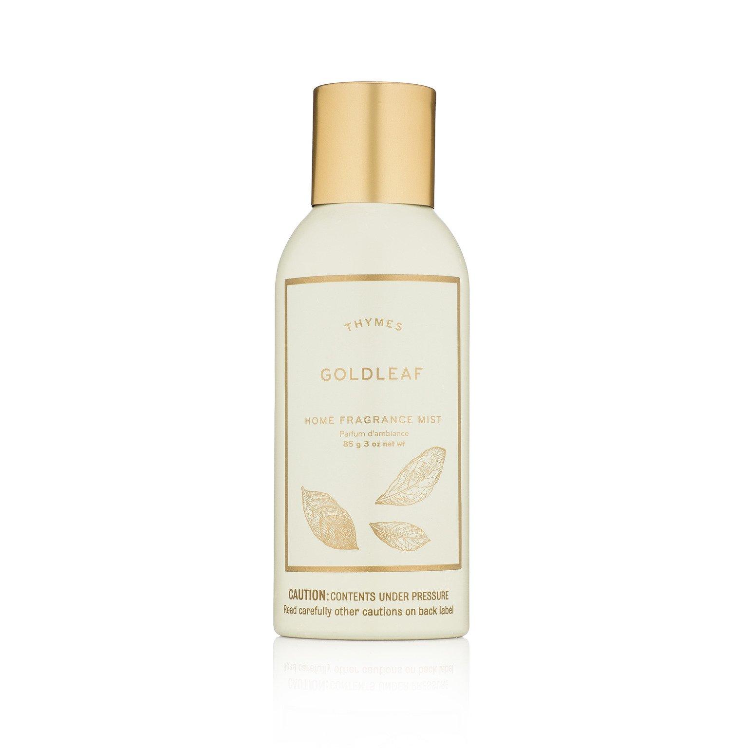 Thymes Goldleaf Home Fragrance Mist - Elegant Floral Scented Room Spray - 3 oz
