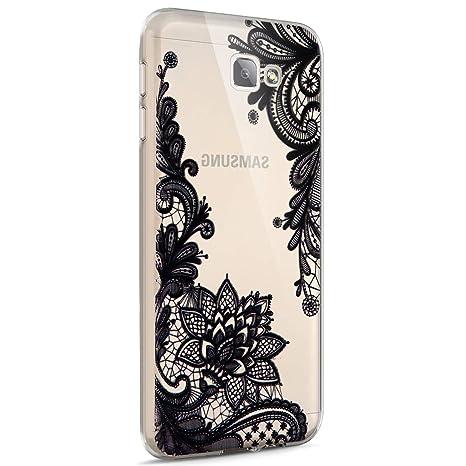 Funda Galaxy J3 (2016) ,Funda Silicona Gel Carcasa Ultra Delgado Flexible Tpu Goma Silicona Protector Flexible Cover Case Estuche Protective Caso para ...