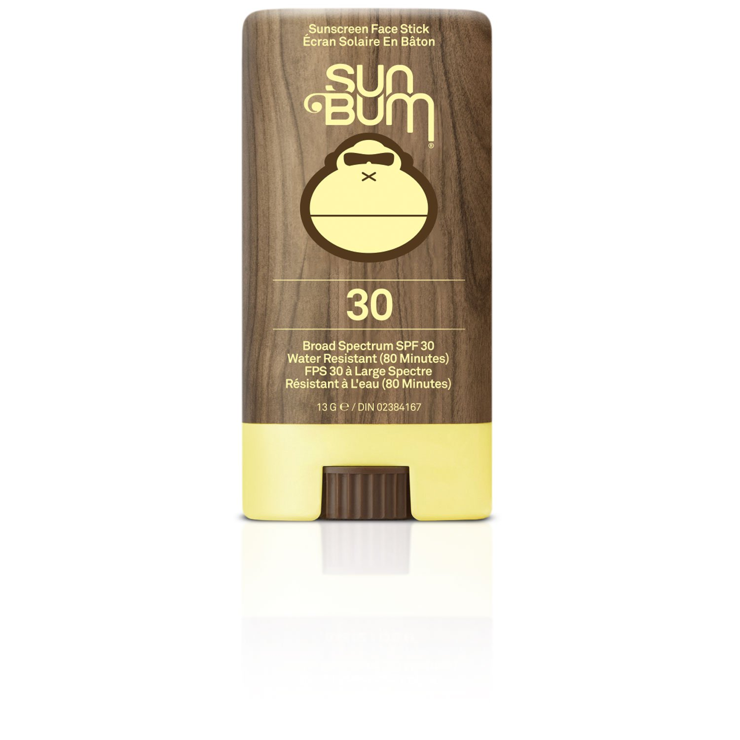 Sun Bum Premium Sunscreen Face Stick, SPF 30, 1 Count, Broad Spectrum UVA/UVB Protection, Paraben Free, Gluten Free, Oil Free 25-45030