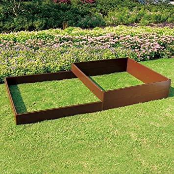 Tierra Garden 4424 Recycled Plastic 4 Feet By 4 Feet Raised Bed