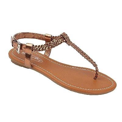 The Bay Sunville Womens Roman Gladiator Sandals Flats Thongs | Flats