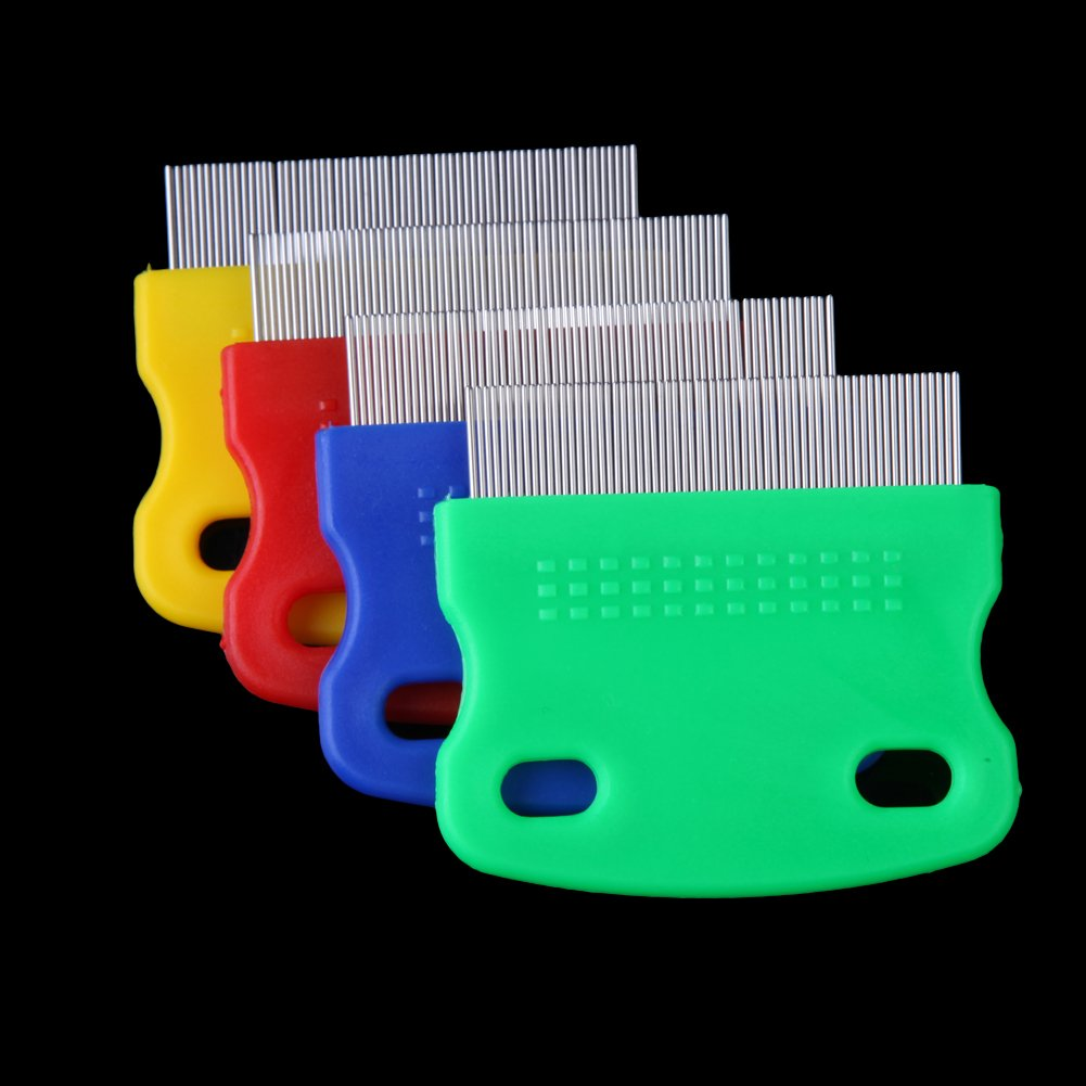 Vktech One piece Pet Fine toothed Comb Cat Dog Grooming Steel Flea Comb Random Color by Vktech (Image #6)