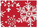Christmas Snowflakes Red (6 Pack ) 3-3/4x2-3/4''