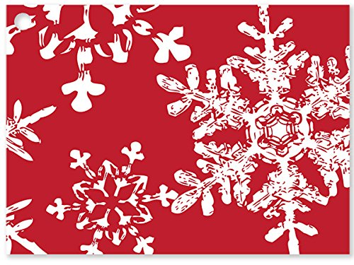 Christmas Snowflakes Red (6 Pack ) 3-3/4x2-3/4'' by Nas