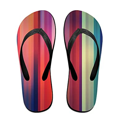 Unisex V Flip Flops Colourfull Abstract Arts Personalized Summer Slipper