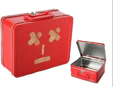 Pide X esa Boca Tiritas Caja botiquín, Metal, Rojo, 22x17x9: Amazon.es: Hogar