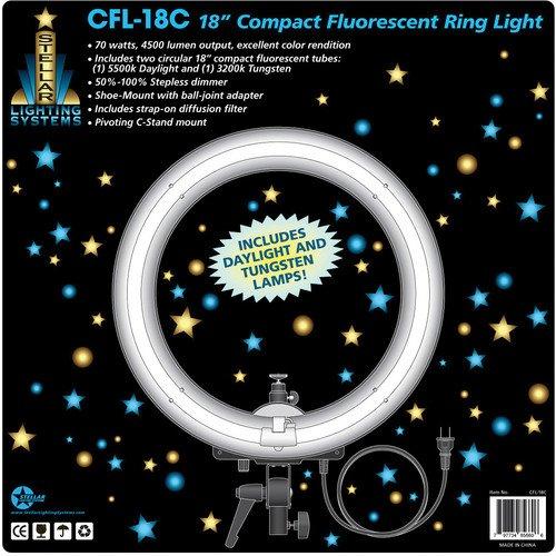 "Fluorescent Light Ring: Stellar Photo/Video 18"" CFL Compact Fluorescent Ring Light"