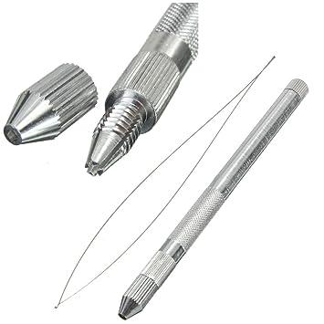 Kunse 115mm Metall Micro Ring Häkeln Perlen Gerät Fisch Draht Nadel