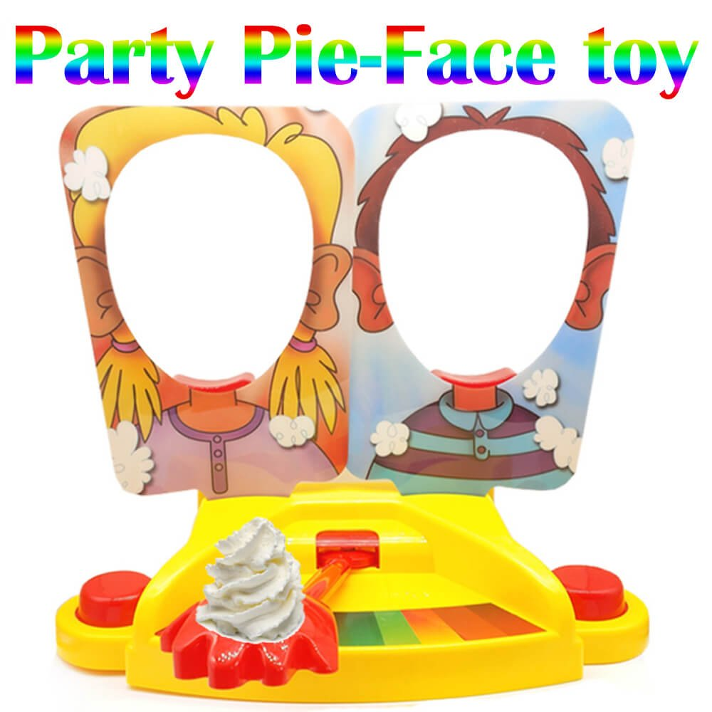 ixaer Pie Face Game Tricky Toys Double Cream Face Mask Family Game for Children Rocket Gaming Family Kids Children Novelty Toys Gift. by ixaer (Image #2)