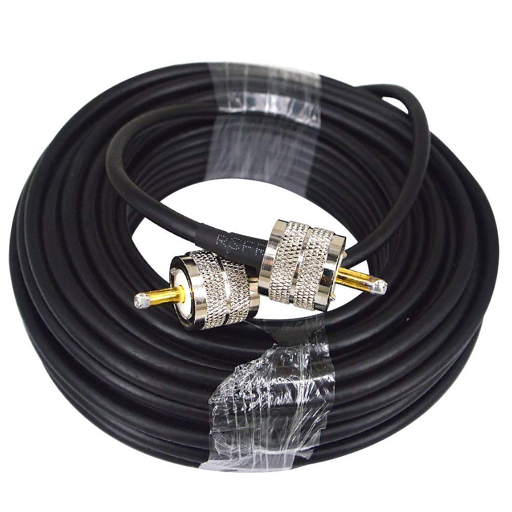 RG58 15M Low Loss UHF PL-259 Male to Male WiFi Antenna Cable Coaxial PL259 Coax Connectors for Ham or CB Radio Antenna Extension Coax for VHF HF Radio rg58 Coax Cable by YOTENKO (Image #4)