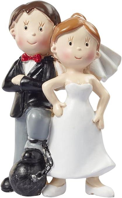 Tortenaufsatz Hochzeitspaar mit Ketten   ca 15 cm