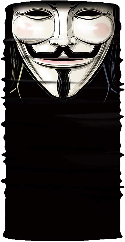NooobTerrm GesichtsMaschera Seamless Neck Gaiter Shield Schal Bandana UV-Schutz f/ür Motorrad Radfahren Reiten Laufen Stirnb/änder