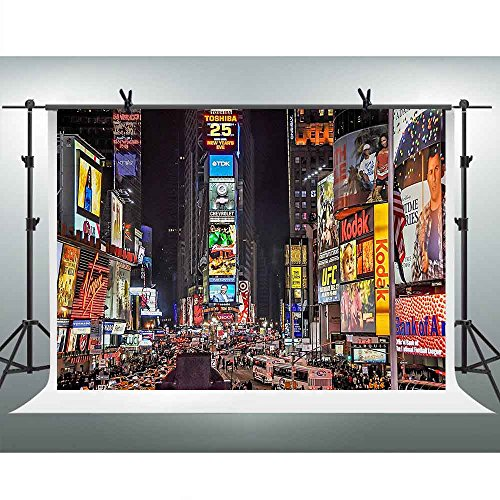 FHZON 7x5ft Famous New York Times Square Backdrop
