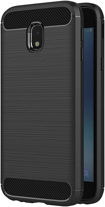 AICEK Funda Samsung Galaxy J3 2017, Negro Silicona Fundas para ...