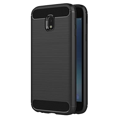 Samsung Galaxy J3 2017 Case, AICEK Black Silicone Cover for