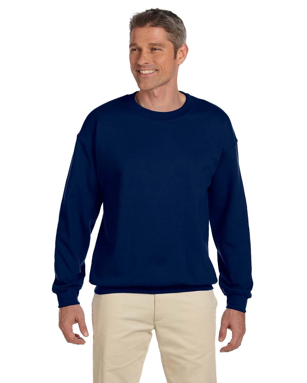 Gildan Adult 7.75 oz 50/50 Crewneck Sweatshirt in Navy - XXX-Large