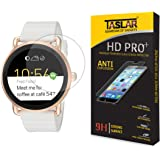 Taslar Screen Protector Arc Edge Tempered Glass Scratch Screen Protector Guard Card for Fossil Q Marshal 45mm / Wander 45mm