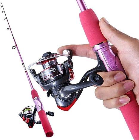 Suministros al Aire Libre Portátil Caña Pescar Spinning Carrete ...