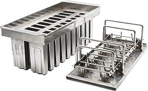 20pcs Stainless Steel Molds for Popsicles Maker Ice Lolly Ice Cream Pops Bars Stick Holder (B)
