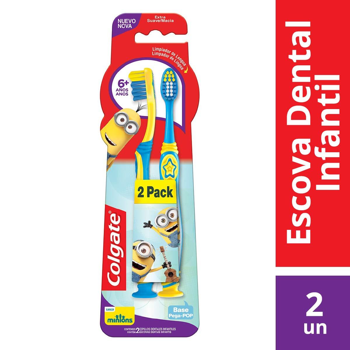 275e4d740 Colgate Cepillo Dental Smiles Minions Infantil 6+ Años, 2 Piezas:  Amazon.com.mx: Salud, Belleza y Cuidado Personal