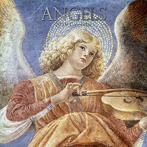 (2019 Wall Calendar - Angels Calendar, 12 x 12 Inch Monthly Calendar, 16-Month, Religious Theme, Includes 180 Reminder)