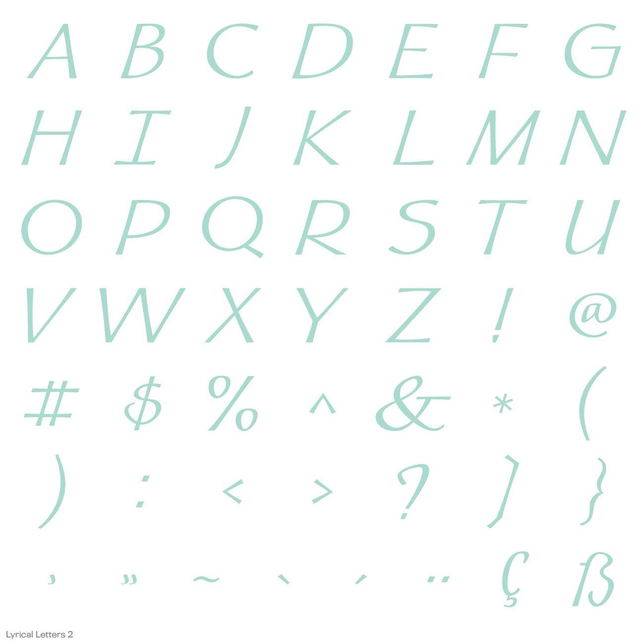 Cricut Lyrical Letters 2 Cartridge by Cricut (Image #21)