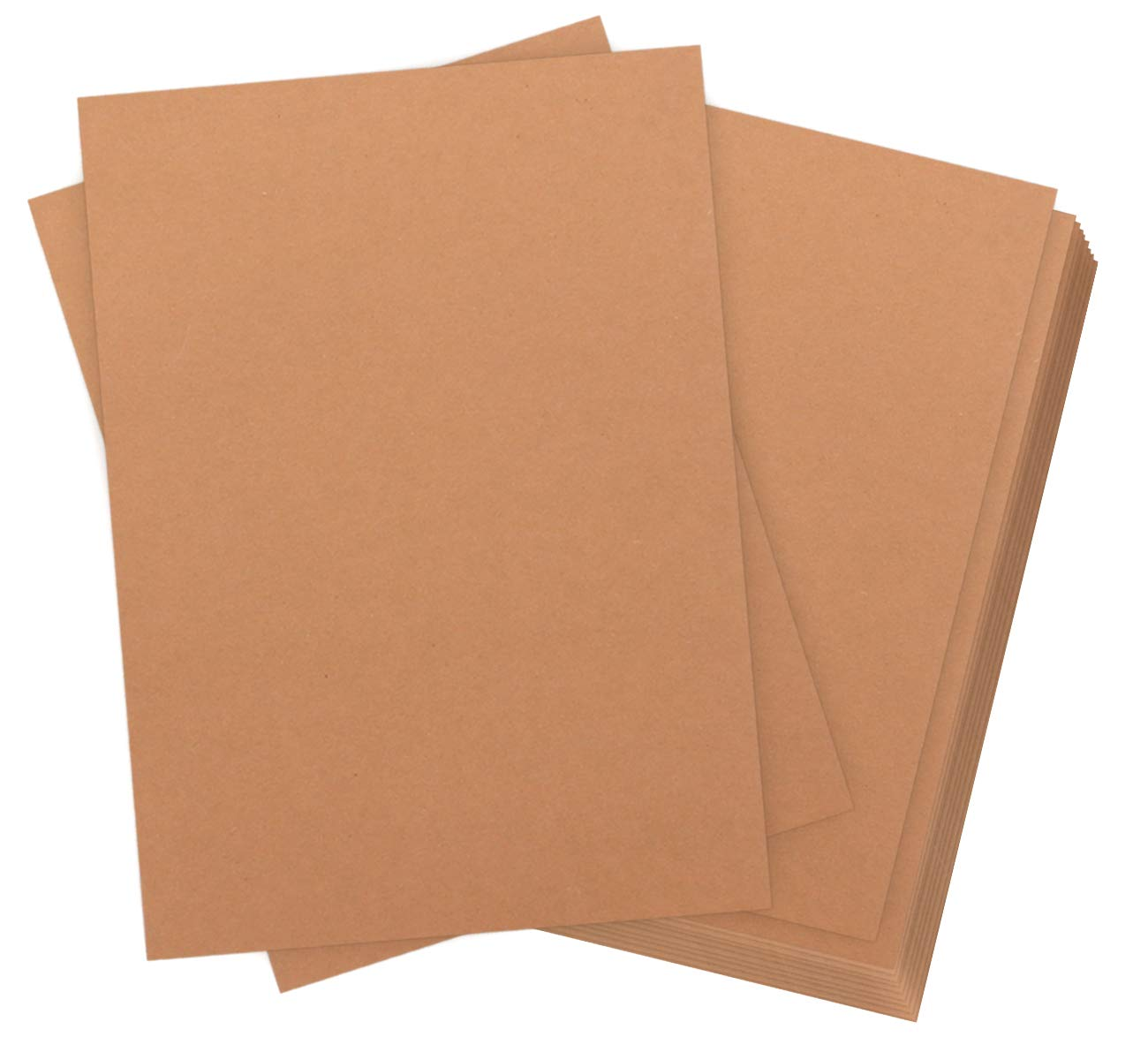 60 Blätter Kraftpapier DIN A4 Kraftkarton 320 g Qualität Absofine Naturkarton in Hochwertiger Qualität Kraftkarte Recycelt