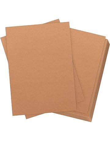 de 60 hojas Papel kraft DIN A4 320 g de calidad Absofine Naturkarton de alta calidad